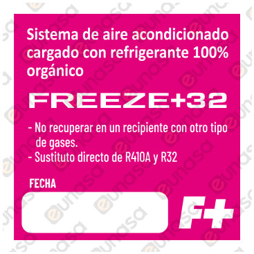 Gas Refrigerante Orgánico FREEZE+32 1000ml