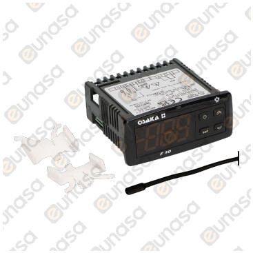 1 Relay Digital Thermostat F10 230V 78x35mm