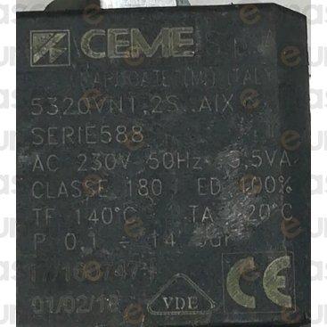 """Electroválvula 3 Vías 230V 1/8"""" Vitón 14bar"""