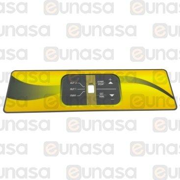 Pegatina Amarilla Panel Control Envasadora