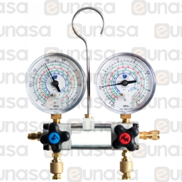 Manometer Spy Ø80mm R-134a/R-404A With Case