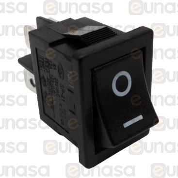 Interruptor Negro 13x19mm 6A 230V