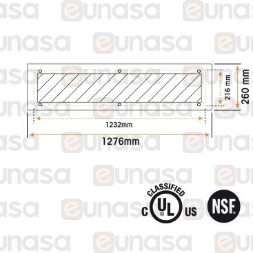Luminaria Led 974x260x114mm 53W
