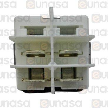 Interruptor Verde 25x25mm 230V Bipolar