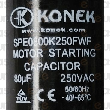 Condensador Arranque 80µF 250V 50/60Hz