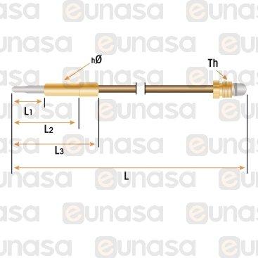 Termopar Cabeza Lisa M10x1 L=600mm Ø5mm