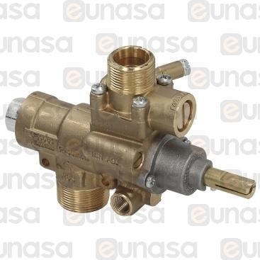 Grifo Gas PEL23S/V CONEX.VERTICAL Bypass Ø0.3
