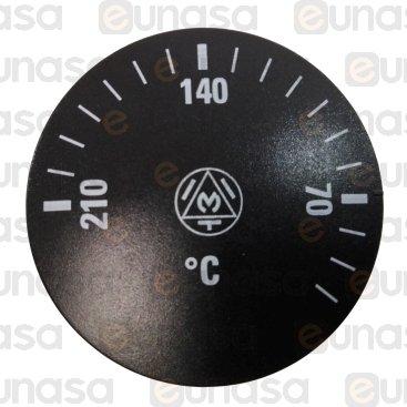 Mando Termostato Freidora 0-210ºC Ø6x4,6mm