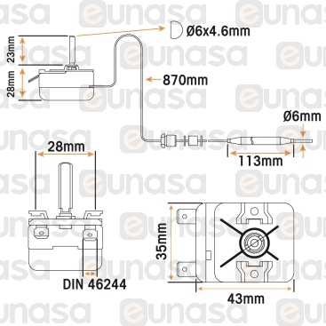 Pasta Cooker Thermostat 30°C/110°C 16A 230V