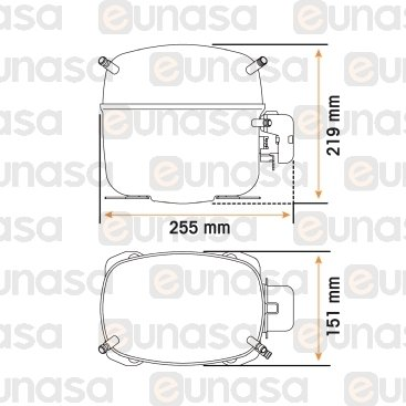 Compresor SC18CLX.2 R-404A R-507 1/2HP