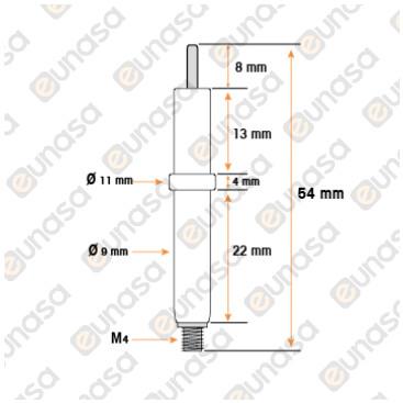 Bujía Encendido Ø9.5x107mm Con Brida 24x17mm