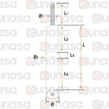 Bujia Encendido Cocina Ø5x35mm Cable 550mm