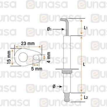 Bujia Encendido Horno Ø7x53mm