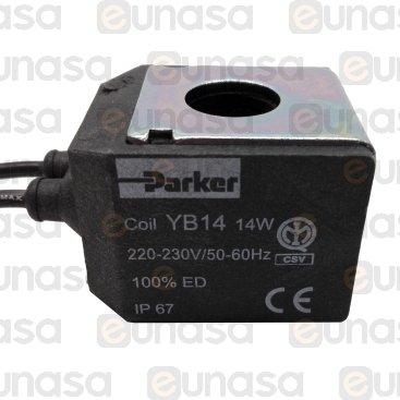 Bobina Electroválvula YB14 230V 14W Con Cable
