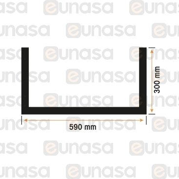 Burlete Puerta Horno  590x300mm
