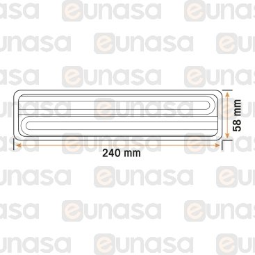 Resistencia Cerámica 1000W 230V 240x58mm