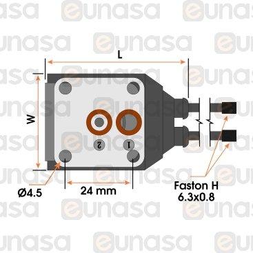 Bobina Electroválvula 230V Con Cable YB09.6