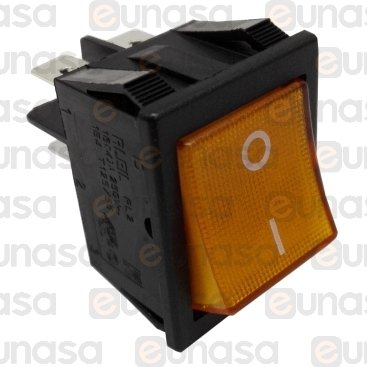 Interruptor Ámbar 30x22mm 16A 250V Bipolar