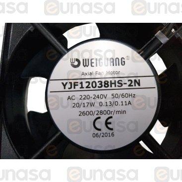 Ventilador Axial 230V 50/60Hz 2650rpm 120x120