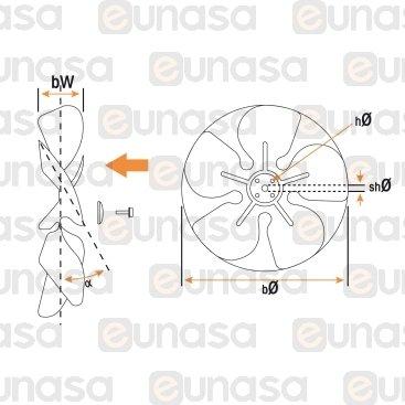 Fan Blades 5W Ø200mm 28º Suction