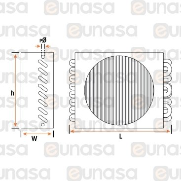 Condenser 8x2 798W 1xØ200mm