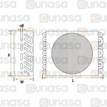 Condenser 10x4 2014W 1xØ250mm