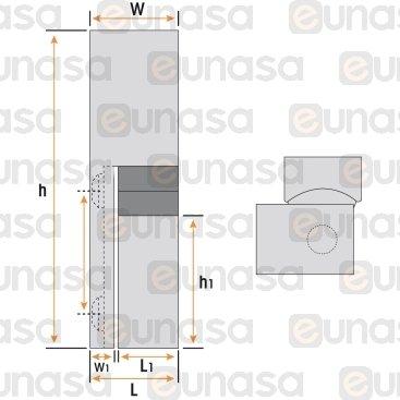 Bisagra Vertical L=75mm Cromo