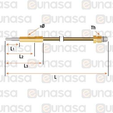 Termopar Freidora M9x1 L=600mm Fg 82122