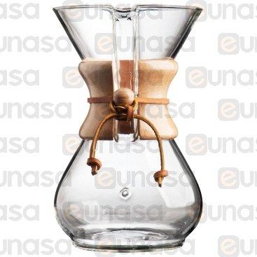 Máquina Café Cristal De Filtro 6 Tazas