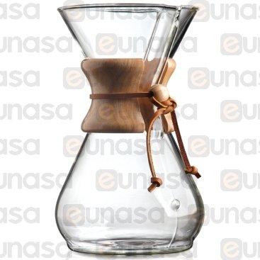 Máquina Café Cristal De Filtro 8 Tazas