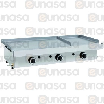 FERRO A GAS 3 ZONE LISA DUO 1010x457x265mm