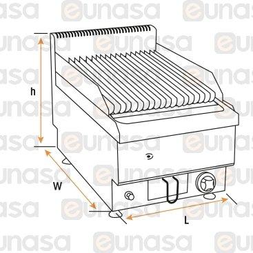 Barbacoa Lávica Sobremesa A Gas Serie 650
