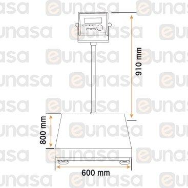 Báscula Electrónica 300kg  Missil F4-300