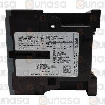 Contactor 230V 22A 3NO/1NO AC3 400V 4kW 9A