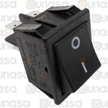 Interruptor Negro 230V Bipolar 30x22mm