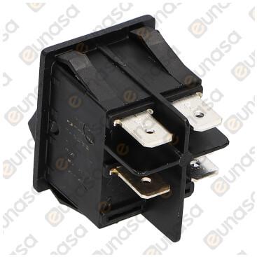 Interruptor C/ Led Rojo 30x22mm 230V 16A