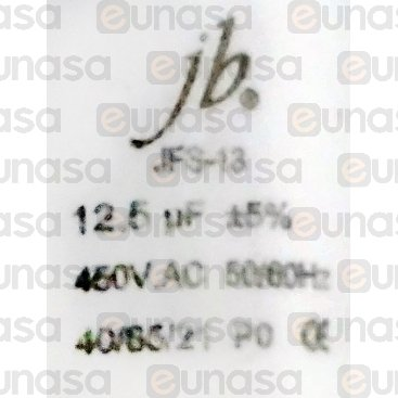 Condensador 12.5µF 450V Conexión Faston Doble