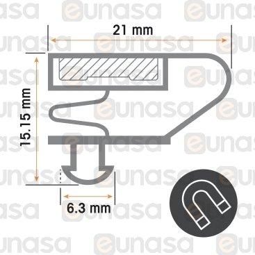 Burlete 1450x620mm Pvc Gris