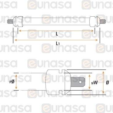 Resistencia Tostador 2P/4P 110V 390W 270mm