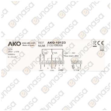 Termostato Digital 2 Relés 230V Ac 10123