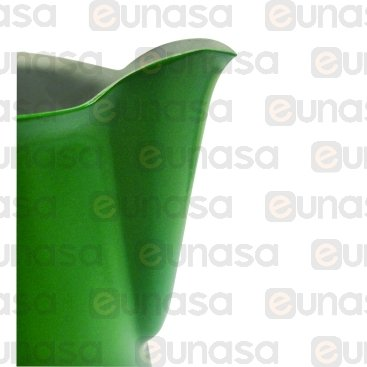Jarra Leche Profesional Verde Inox 0.50L
