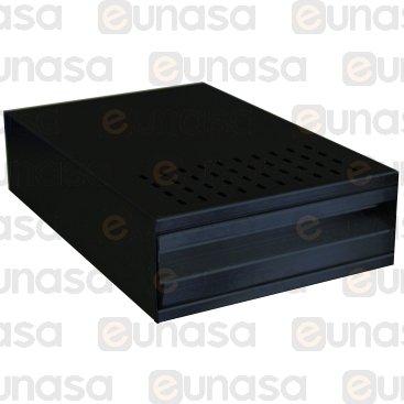 Cajón Picamarro Negro 250x380x100mm Inox