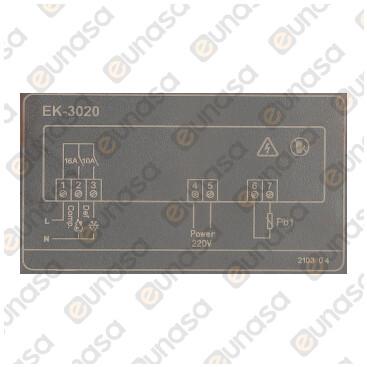 Termostato 2 Relés 230V 71x29 Con Desescarche