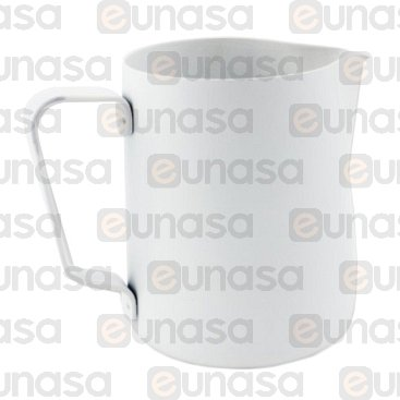 Jarra Leche Profesional Teflón Blanca 0.35L