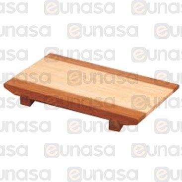 Tabla Para Sushi Bambú Recta 270x180x30mm