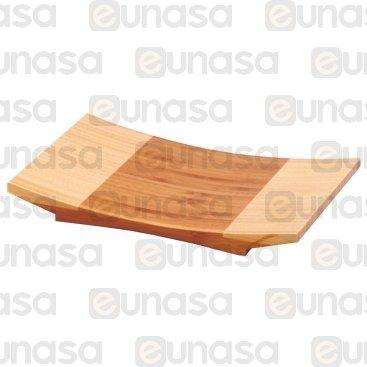 Tabla Para Sushi Bambú Curvada 240x150x30mm