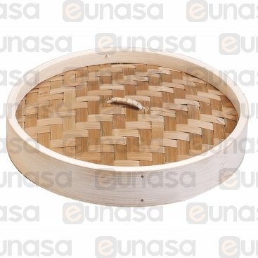 Tapa Para Vaporera Bambú Ø270mm - h:40mm