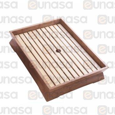 Bandeja Madera Bambú Para Sushi 420x320x85mm