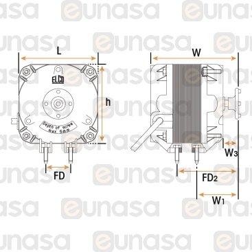 Motor Ventilador 230V 50/60Hz 34W 1300rpm