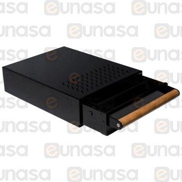 Cajón Picamarro Negro 280x370x100mm Inox